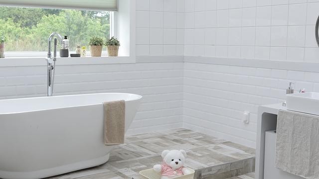 medvídek v koupelně