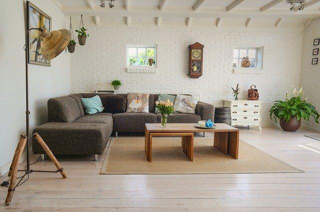 rustikální obývák