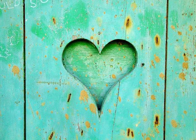 srdce na dveřích